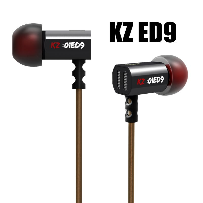 Hot KZ ED9 In-ear Earphone Bass Earbuds Noise Canceling Earbuds Stereo Metal HiFi Headset Original KZ Earphones With Microphone