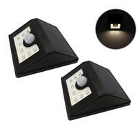 2pcs Super Bright Waterproof Outdoor Solar Lights Lamp With 8 LED Maintenance Free Motion Activated Light