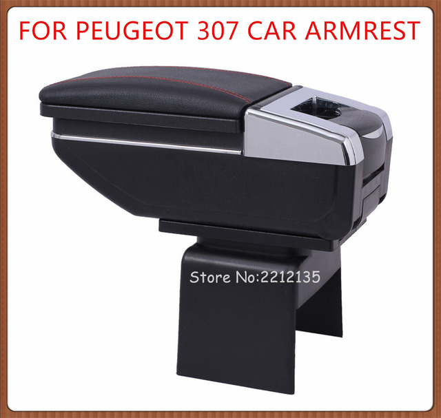 FREE SHIPPING ROTATABLE CAR ARMREST FOR PEUGEOT 307 Interior Car ...