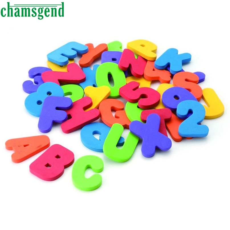 chamsgend 36 numbers letters puzzle develop intelligence toy water bath toys for children kids toy high