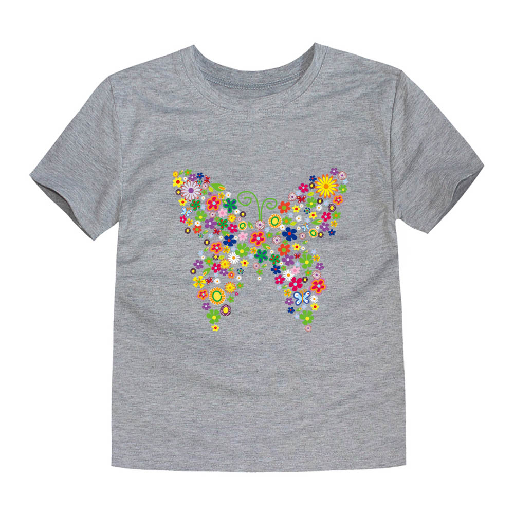 HTB18BMhfHArBKNjSZFLq6A dVXax - Summer Brand New Baby Girls T Shirts Kids Butterfly Flower T Shirts Children Floral Summer Tops for Girl Tshirt Girl