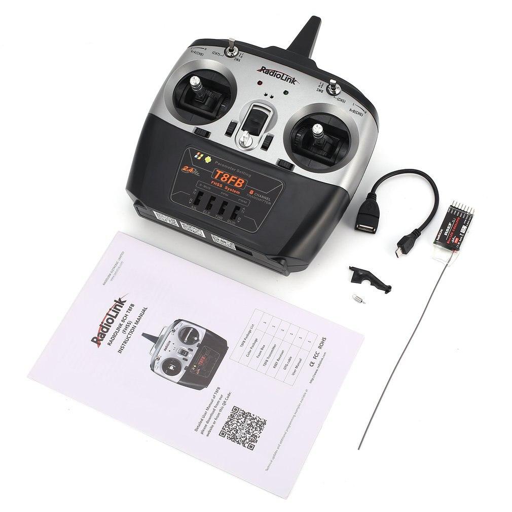 Radio télécommande émetteur Radiolink T8FB 8CH avec récepteur R8EF pour accessoire gauche pour Drone hélicoptère avion RC