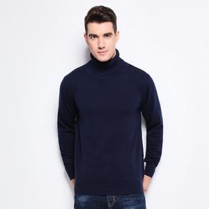 Image 3 - חדש סתיו חורף אופנה מותג בגדי גברים של סוודרים חם Slim Fit גולף גברים בסוודרים 100% כותנה סרוג סוודר גברים