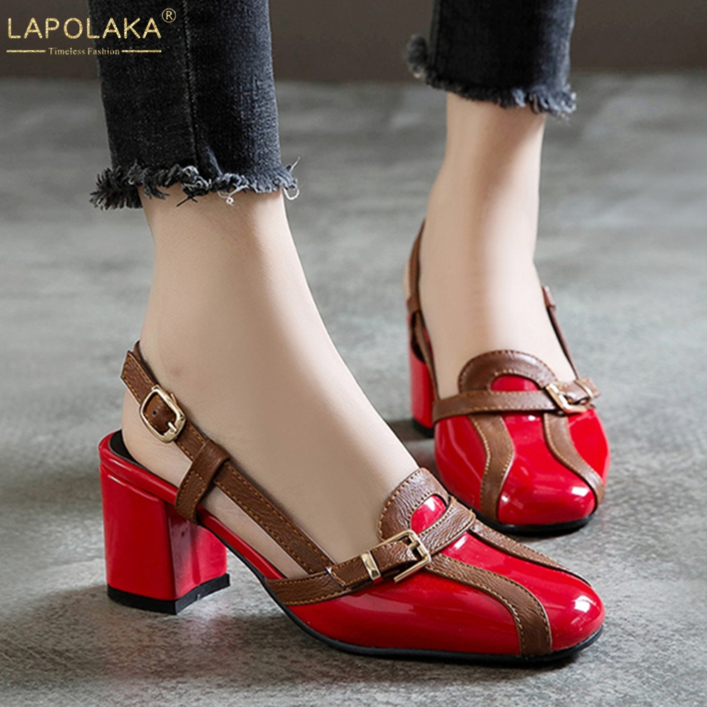 LAPOLAKA Fashion Big Size 30-52 Buckle Shoes Woman Sandals Female INS Sandals Woman Shoes Footwear