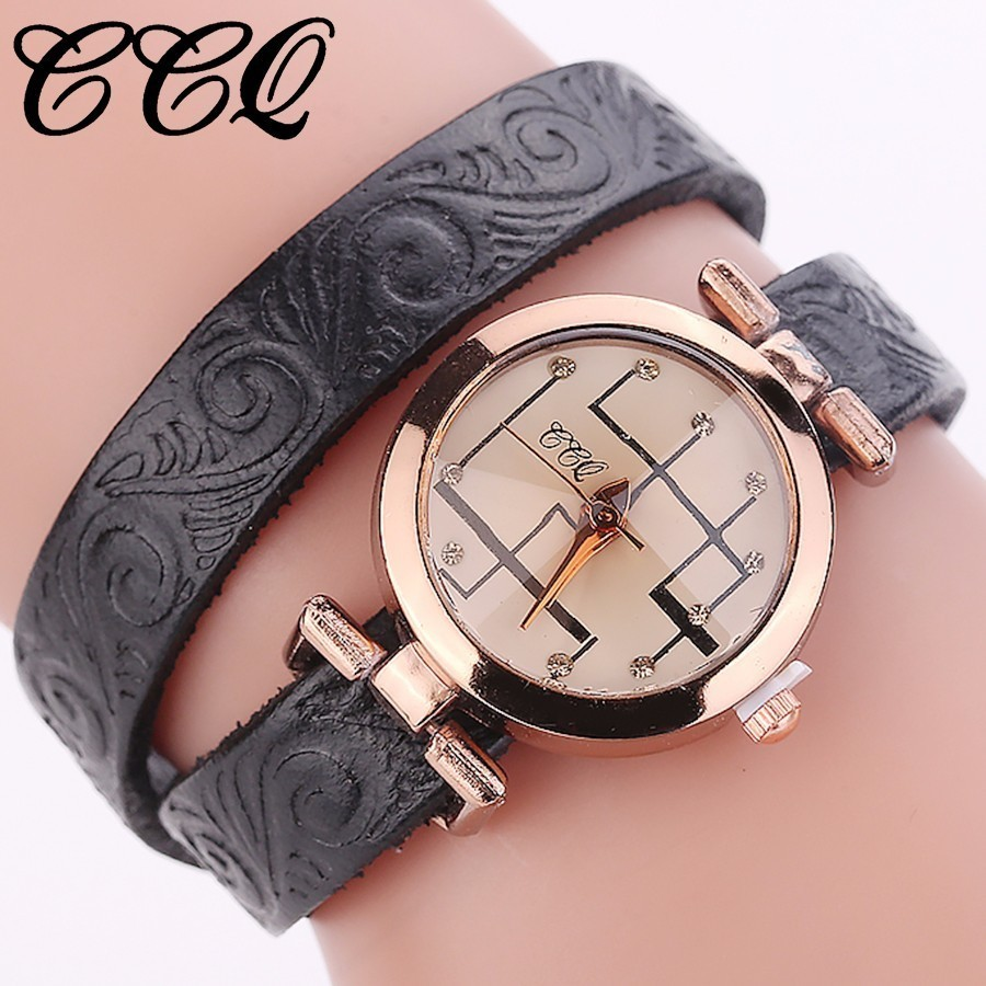 CCQ Brand Genuine Cow Leather Quartz Wristwatches Fashion Casual Women Bracelet Watch Gift Clock Relogio Feminino longbo brand genuine leather lovers quartz watch simple style women men casual watch waterproof relogio masculine feminino clock