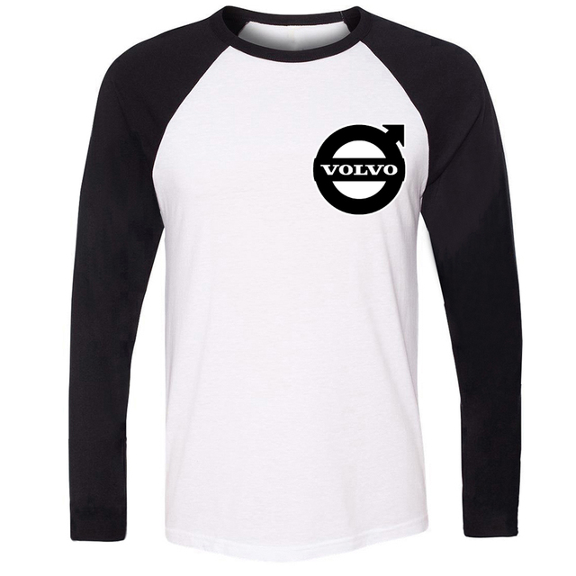 Men Stree Style Cotton Long Sleeve Fashion Volvo Symbol Car Design T