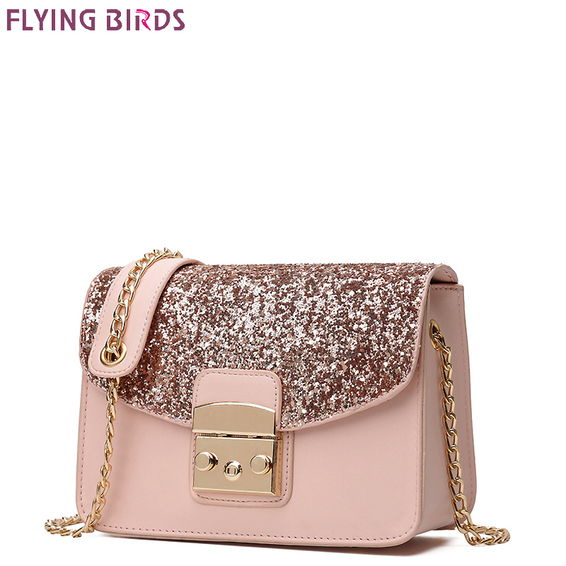 FLYING BIRDS famous brand women bags chain leather handbags women messenger bags female designer tote bolsas high quality a1659 splendid 2016 new designer famous brand women leather handbags bags high quality women s messenger bags bolsas pouch bag tote