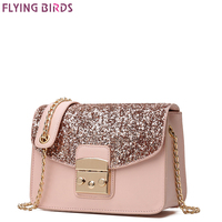 FLYING BIRDS Famous Brand Bags Chain Women Leather Handbags Bolsas High Quality Women S Messenger Bags