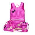 3 pcs Saco de Crianças Dot Impressão Sacos De Escola Para Meninas conjunto Arco Princesa criança backpack Crianças Mochila Schoolbag mochilas casuais