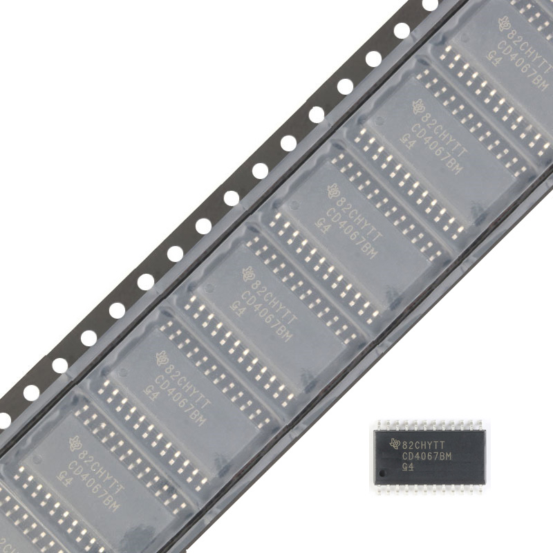 10pcs/lot SMD CD4067BM96 SOIC-24 Logic IC <font><b>CD4067</b></font> New and Original image