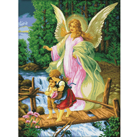 61x80cm 2015 NEW Trends Ultra HD Diamond Painting Guarding Angel Top Design Rubik Cube 5D Diamond