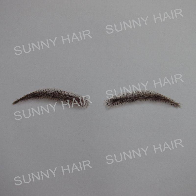 hand made human hair false eyebrow 017 dark brown #2 color hand knot fake eyebrow managing projects made simple