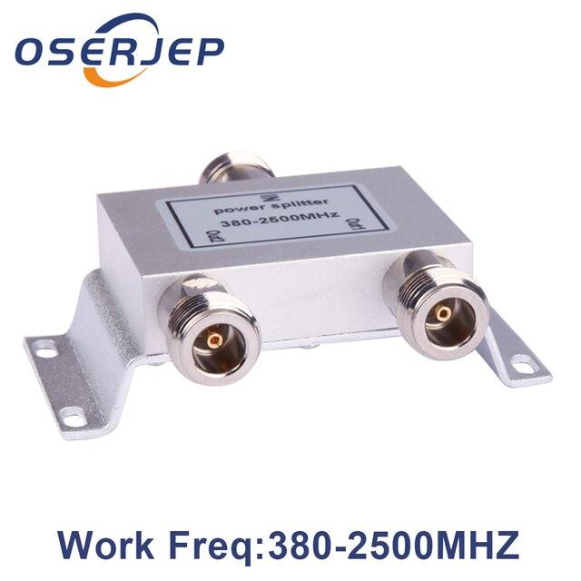 Gorąca rozdzielacz koncentryczny 1 do 2 sposób zasilania Splitter 380 2500 MHz wzmacniacz sygnału dzielnik N żeńskie 50ohm dla antena 4g