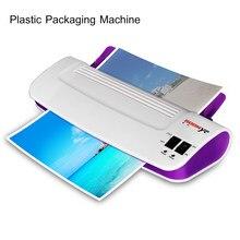 Laminador en frío y caliente para documentos A4, máquina laminadora de rollos de película de plástico, M-25