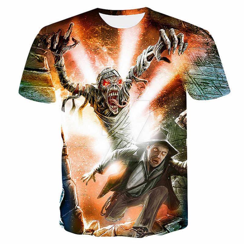 T koszula kobiety mężczyźni łańcuch żelazny Tshirt mumia ludzi Gothic topy Rock koszulki Rap Hip Hop koszulki Tee ubrania Dropship
