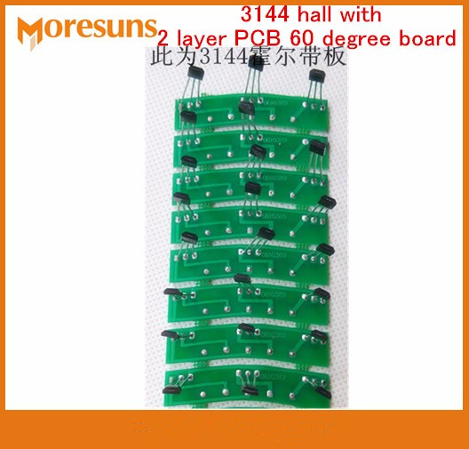 Free Ship 100pcs/lot Electric Vehicle Motor Hall Plate Circuit Board Hall Element 3144 Hall With 2 Layer PCB 60/120 Degree Board