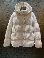 Осень зима 2008 Для женщин одежда шейным, Кепки и небольшой стоя шеи декоративные с длинными рукавами Чистый Вниз Короткие Coat1122