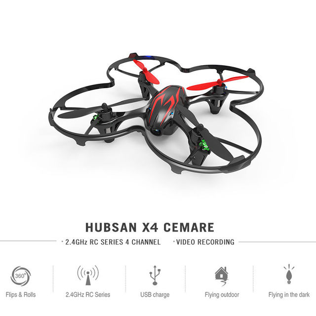 Nueva Original Hubsan X4 H107C Quadcopter 6 Ejes 4CH 2.4 Ghz Mini RC Quadcopter con Cámara de 2MP HD RTF