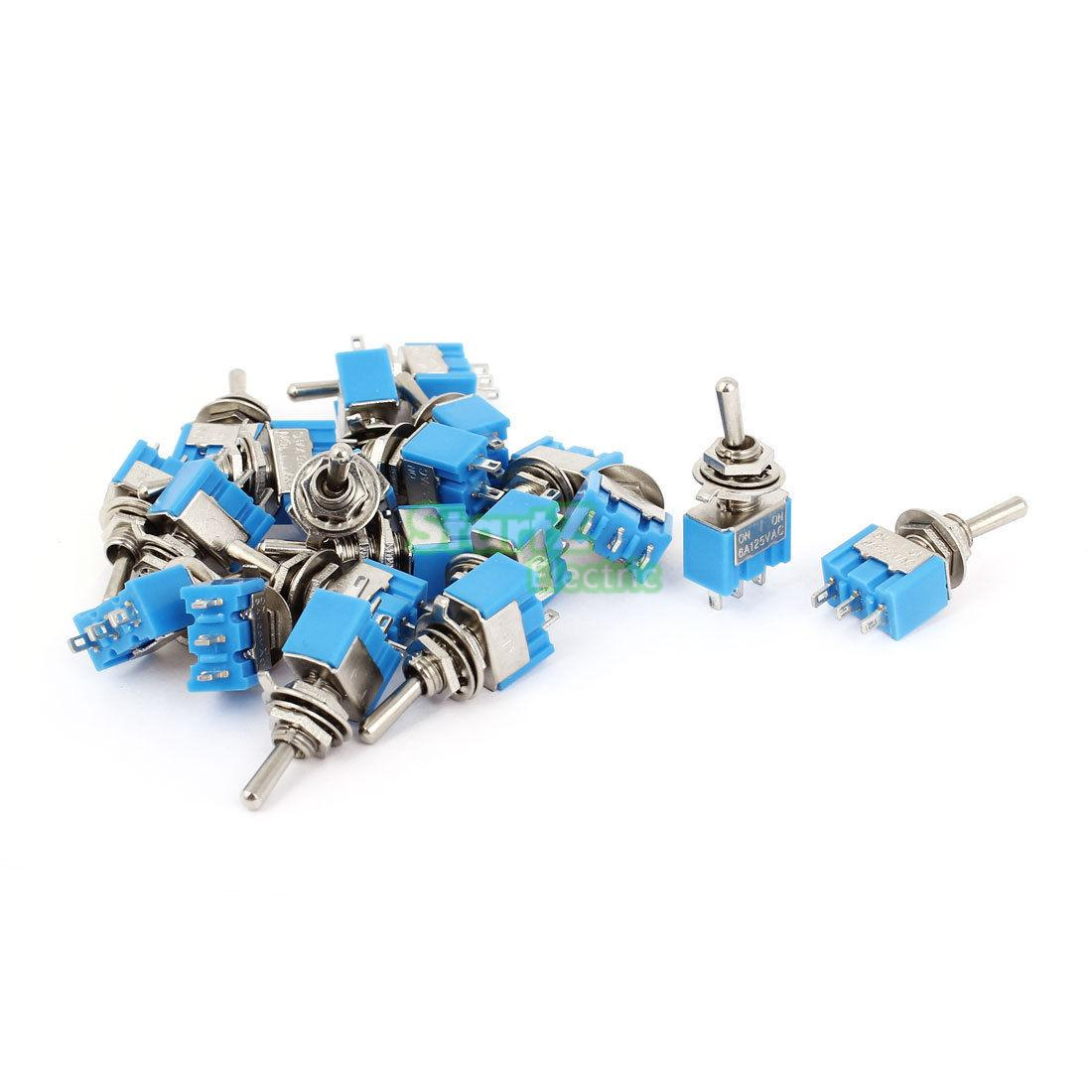 20Pcs SPDT ON-ON 2 Positions 3 Pin Latching Micro Toggle Switch MTS-102