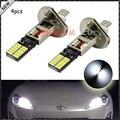4 unids Nuevo Estilo 6500 K HID Xenon Blanco 24-SMD-4014 H1 Reemplazo LED Bombillas Para Luces de Niebla Del Coche, Luces de circulación Diurna, DRL Lámparas