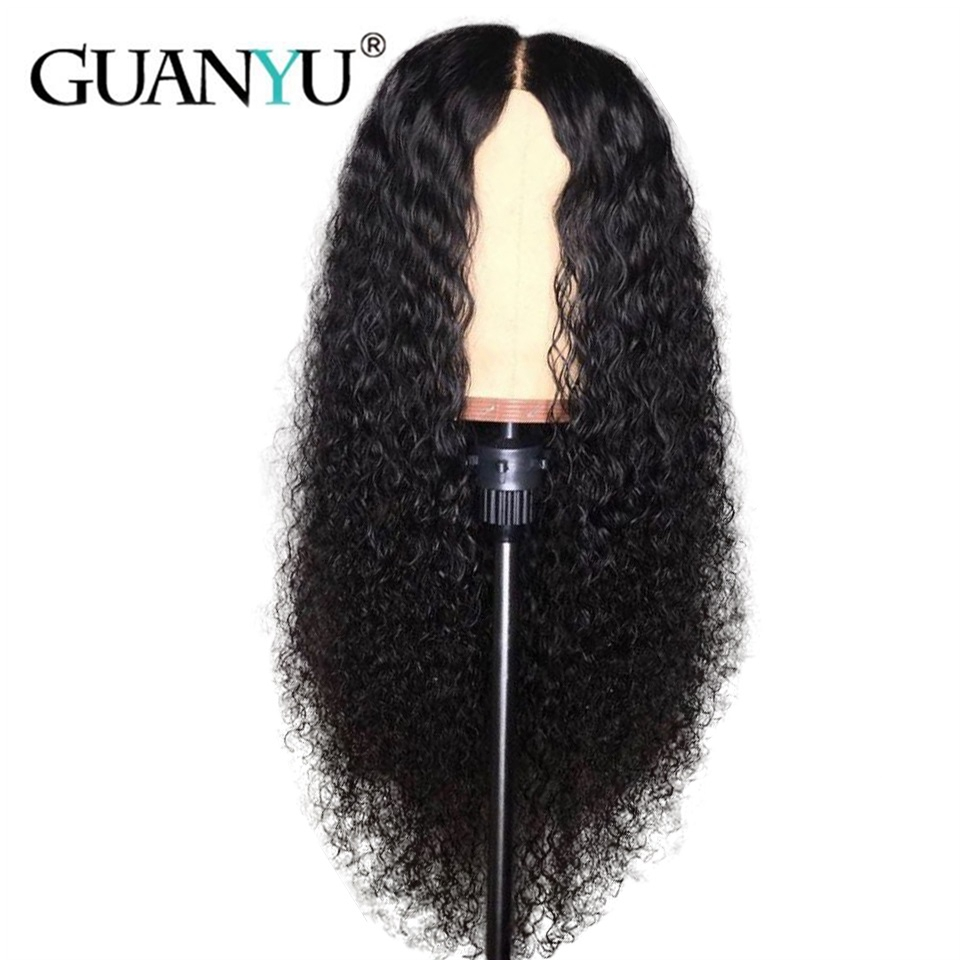 Curly Lace Front Wigs For Black Women Human Hair Pre Plucked 13*4 Brazilian Remy Hair Lace Front Wigs Bleached Knot Guanyuhair