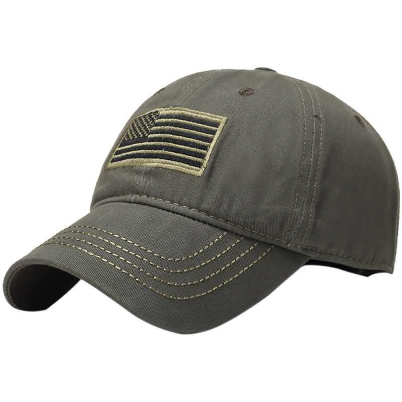 Hombres bordado ee.uu. bandera sombrero senderismo ejército béisbol  sombrero gorra militar Camping camuflaje c89c1b31c01