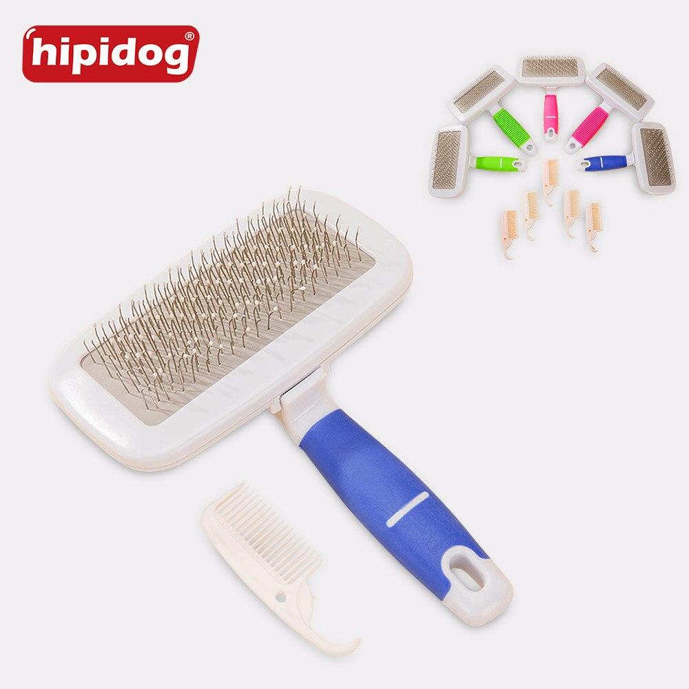 Hipidog 1 Set Rubber Non slip Handle Steel Needle Pet Hair