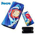 Miyazaki Hayao Anime Ponyo Wallet Toy Purse Toy Zipper Long Wallets Figure Best Gifts 19.5cm Retail Free Shipping