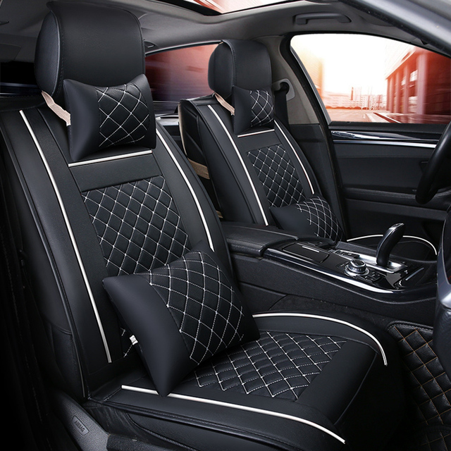 Car Travel Car Seat Covers Universal Pu Leather Auto Front Back Seat