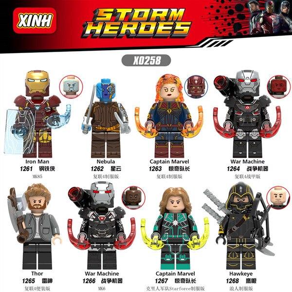 80p'c's WM6056 Avengers Endgame Thor marteau Iron Man Infinity gants Captain America jouets pour enfants-in Blocs from Jeux et loisirs    2