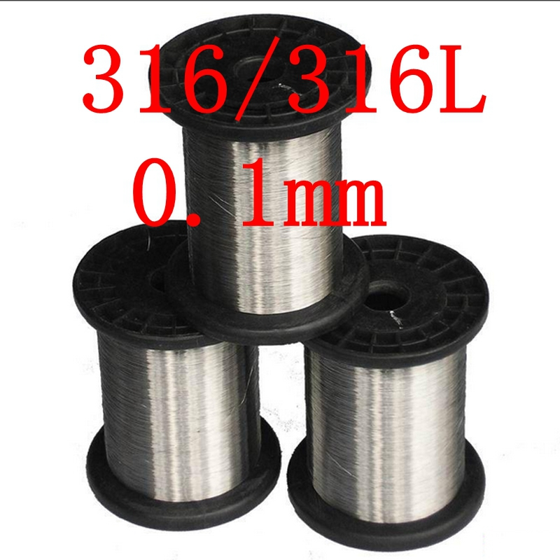 0.1mm,316/316L Soft Stainless Steel  Wire,36 gauge/0.1mm SS Seaworthy Thread 3mm 7 7 stainless steel 316 wire rope 7x7 strand core seaworthy marine grade