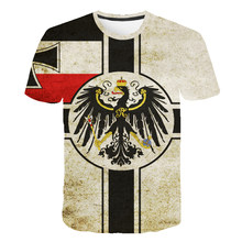 New Design Retro Federal Republic of Germany Flag T-shirt Men/Women Couple Lovers Models Fashion Short sleeve Round neck T-shirt(China)