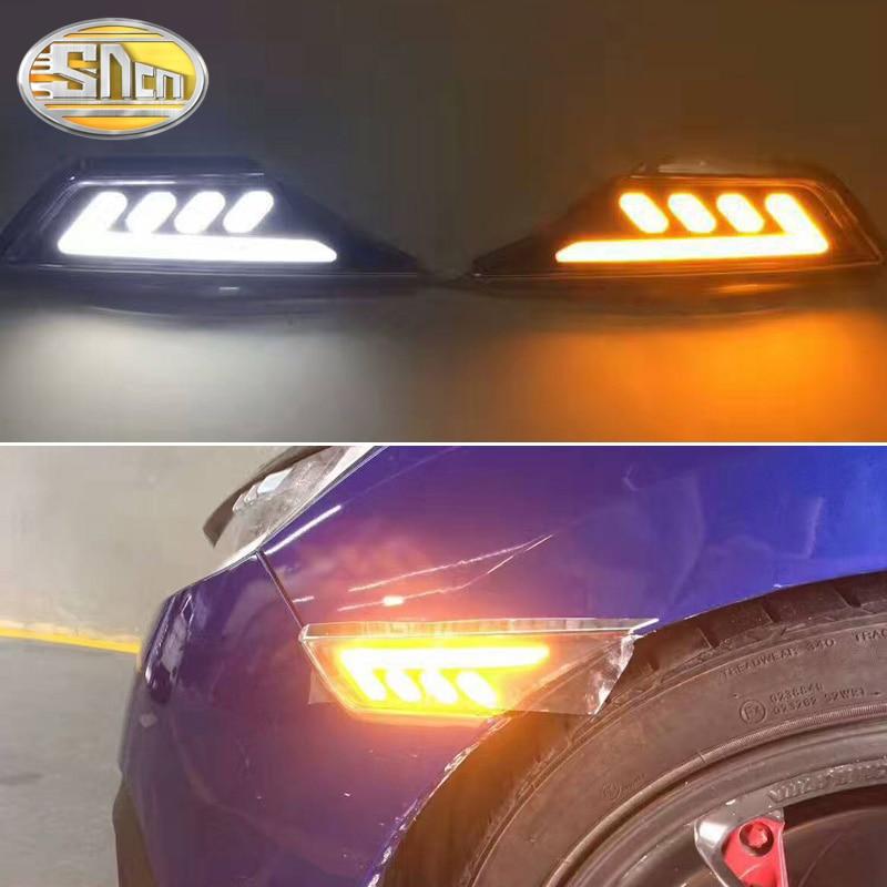 SNCN 2PCS LED Daytime Running Light For Honda Civic 2016 2017 2018 Car Fender Side Lamp Turning Signal Light 12V DRL Bulb-in Car Light Assembly from Automobiles & Motorcycles    1