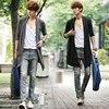 2016 New Men Fall The Long Thin Cardigan Korean Male Cloak Coat Non Mainstream Free Shipping