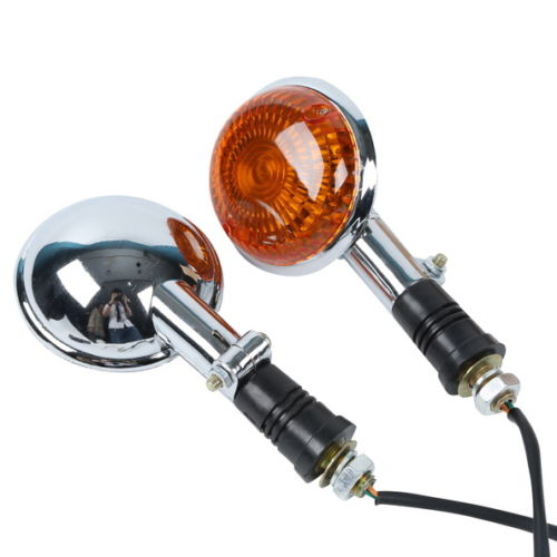 Motorcycle Front Orange Lens Turn Signal Flashers For Yamaha Virago XV250 250 2006 V-MAX1200 V-star XVS400 XVS650 XVS1100