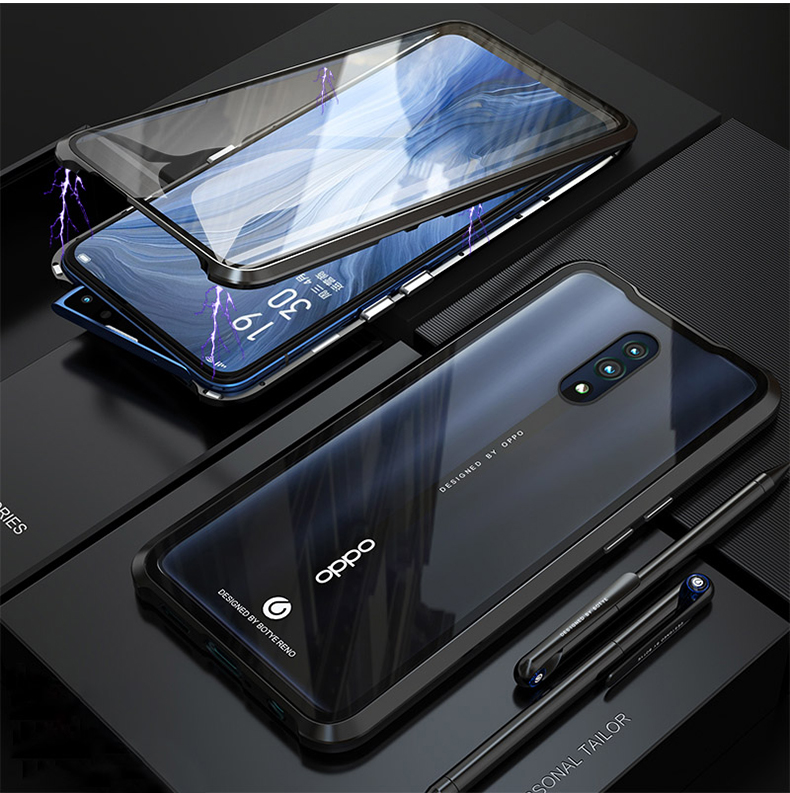 Details about For Oppo Reno Z 10X Zoom Magnetic Adsorption Metal Double  Sided Glass Case Cover