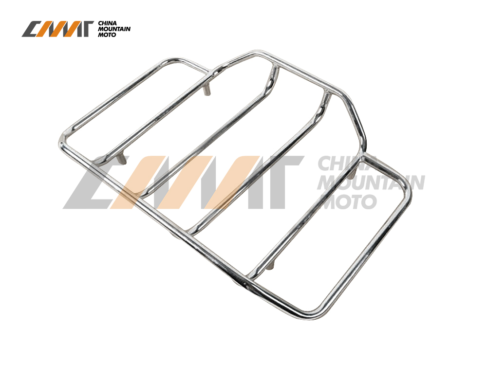 Chrome Tour Pak Carrier Top Luggage Rack Rail case for Harley Road King Glide Touring