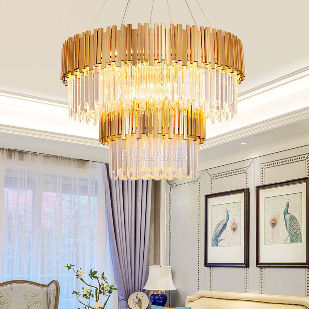 Us 146 98 51 Off Modern Crystal Chandelier Lighting Fixture Luxury Contemporary Chandeliers Pendant Hanging Light For Home Hotel Restaurant Decor In