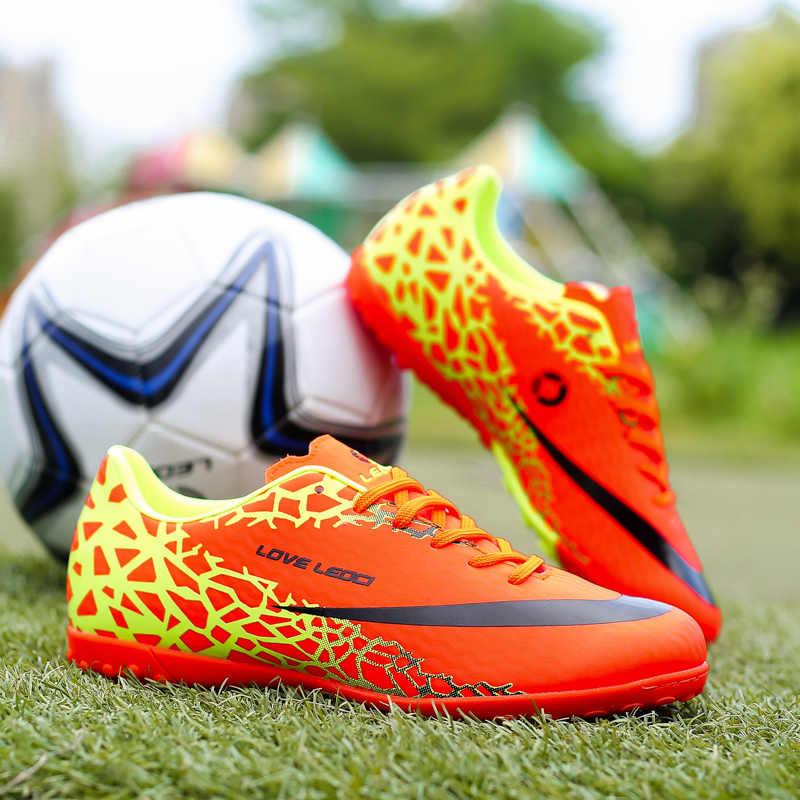 5efcca070 ... Leoci Size 33-44 Men Boy Kids Soccer Cleats Turf Football Soccer Shoes  TF Hard ...