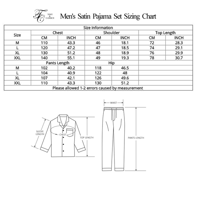 Men's Satin Pajama Set
