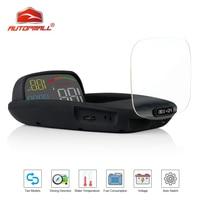 New Car HUD Head Up Display OBD 2 II 2 In 1 HD C800 On board Computer Speed Projector GPS Speedometer Alarm Function Practical