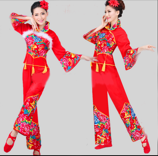 New Arrival Cheap Discount Women Ladies Red Ancient Chinese National Costume Traditional Chinese Dance Costumes