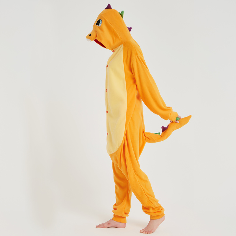 Pokemon Charizard Onesie Adult Women Men Pajamas Cartoon Animal Charmander Dragon Costume Party Winter Warm Cute Pyjama Sleep (6)