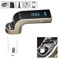 Bluetooth Car Kit Handsfree FM Transmitter Radio MP3 Player USB Charger AUX LCD Screen Radio Golden