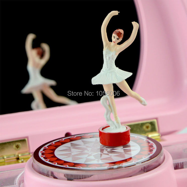 Novel Music Box Cute Pink New Ballerina Music Box Childrens Musical