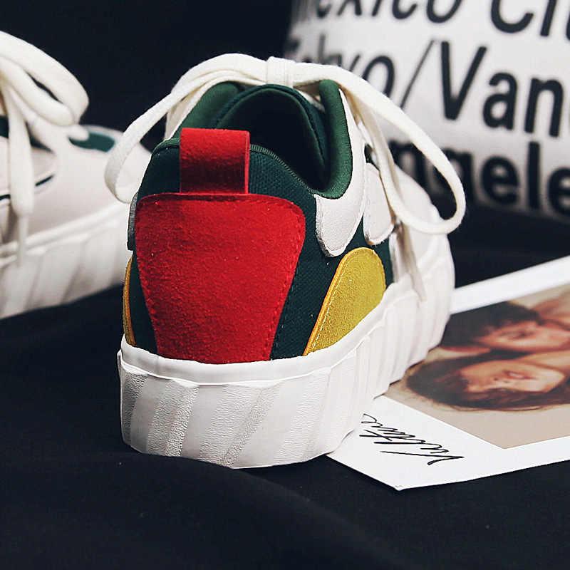 Zapatos de mujer nueva moda 2019 super fuego primavera deportes casuales zapatos de cabeza redonda boca plana zapatos de mujer Zapatos