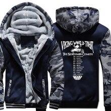 thicken Clothes Odin Viking hooded jackets 2019 winter Men long sleeve zipper warm sweatshirts Vikings mans tracksuits