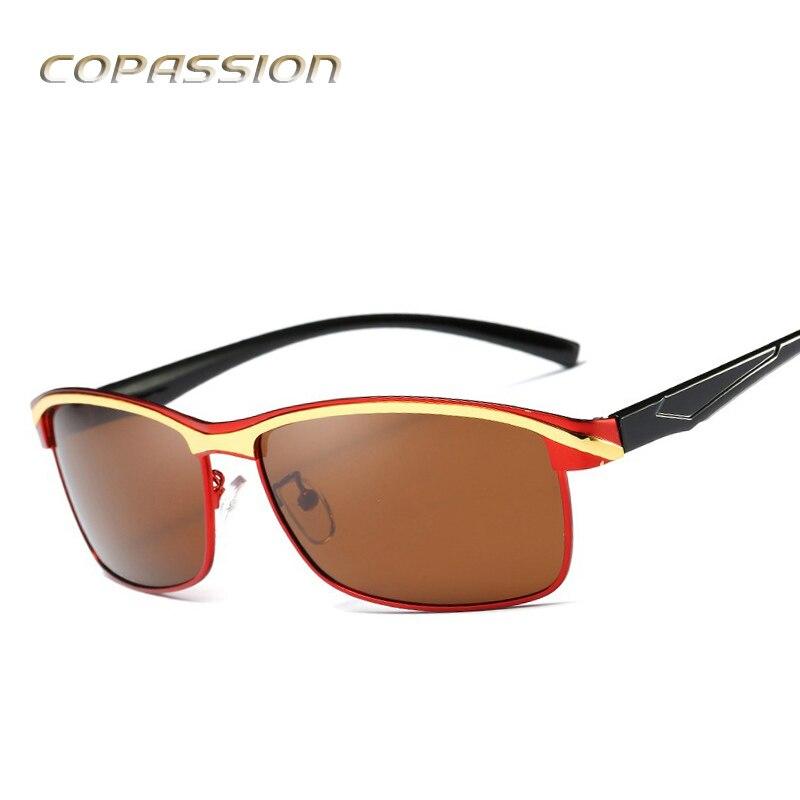 Aluminum magnesium metal Polarized Sunglasses Men Luxury Brand Designer fishing sun glasses driving glasses uv400 oculos de sol