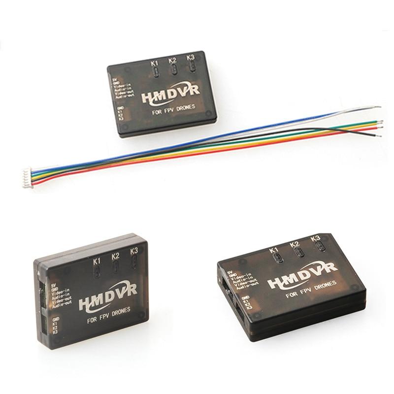Mini DVR Recorder HMDVR for FPV Drones Video Audio Recorder for Mini Quadcopter QAV250 QAV210 new hmdvr fpv through the machine for mini dvr video audio recorder