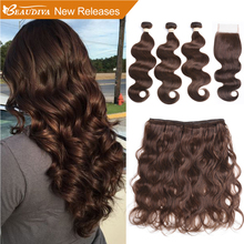 BEAUDIVA Pre Colored Human Hair Weave with 4 4 Closure 3 Bundles with Closure 2 4